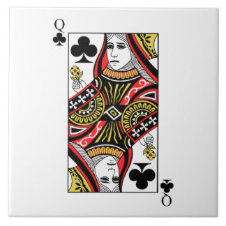 Queen of Clubs Ceramic Tiles