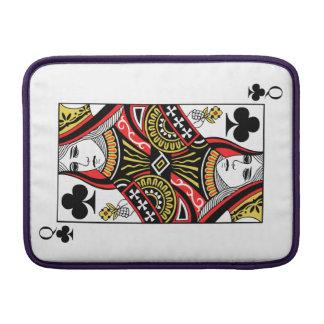 Queen of Clubs MacBook Sleeve