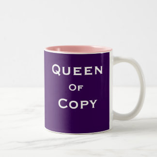 Queen of Copy Woman Journalist Editor Special Name Two-Tone Coffee Mug