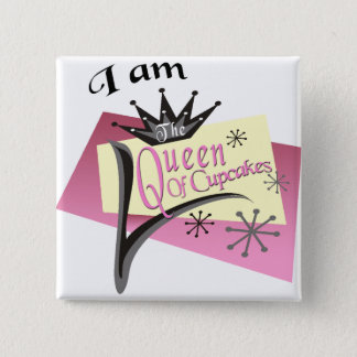 Queen Of Cupcakes 2 Inch Square Button