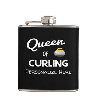 Queen of Curling Flask