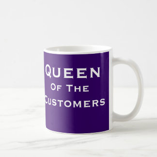 Queen of Customers Sales Boss Woman Funny Name Coffee Mug