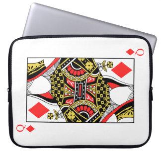 Queen of Diamonds - Add Your Image Laptop Sleeve