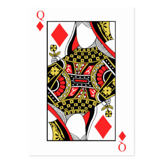 Queen of Diamonds - Add Your Image Large Business Card