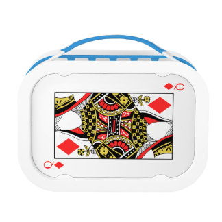 Queen of Diamonds - Add Your Image Lunch Box