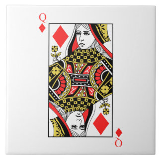 Queen of Diamonds Ceramic Tile