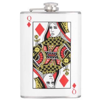 Queen of Diamonds Hip Flask