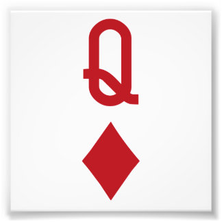 Queen of Diamonds Red Playing Card Photo