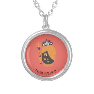 Queen of Diamonds Silver Plated Necklace