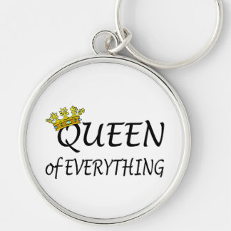 Queen Of Everything Crown Keychain