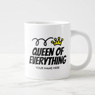 Queen of Everything extra large jumbo mug gift