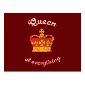 Queen OF everything Postcard