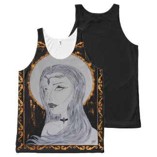 Queen of Gold - Inked Art All-Over-Print Tank Top