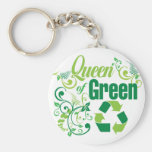 Queen of Green Keychains