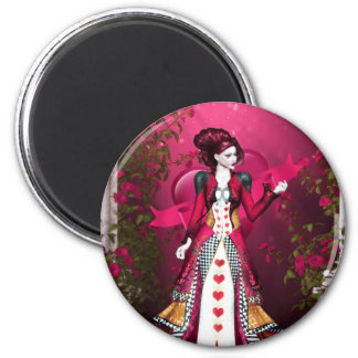 Queen of Heart 2 Inch Round Magnet