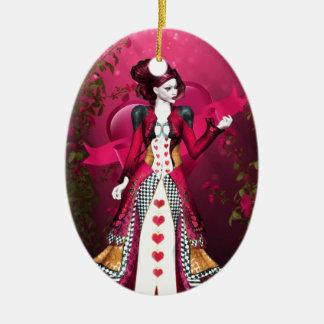 Queen of Heart Ceramic Ornament