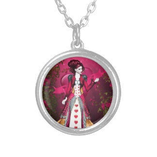 Queen of Heart Silver Plated Necklace