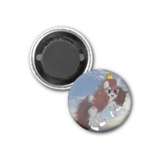 Queen of Hearts 1 Inch Round Magnet