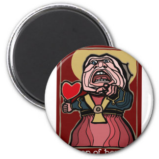 Queen of Hearts 2 Inch Round Magnet