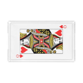 Queen of Hearts Acrylic Tray