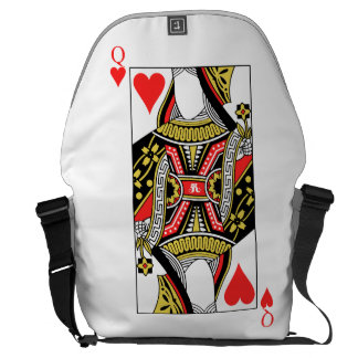 Queen of Hearts - Add Your Image Courier Bags