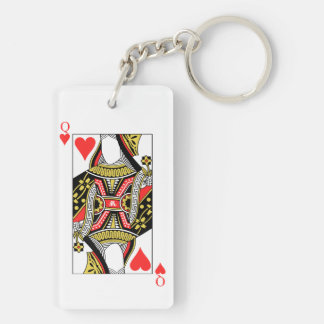 Queen of Hearts - Add Your Image Double-Sided Rectangular Acrylic Keychain