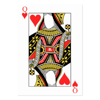 Queen of Hearts - Add Your Image Large Business Card