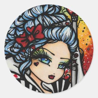 Queen of Hearts Alice Valentine Fairy Stickers