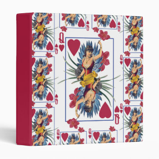 Queen of Hearts and Flowers 3 Ring Binders