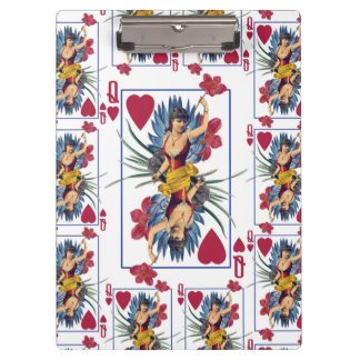 Queen of Hearts and Flowers Clipboard