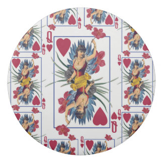 Queen of Hearts and Flowers Eraser