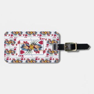 Queen of Hearts and Flowers Luggage Tag