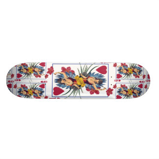 Queen of Hearts and Flowers Skate Decks