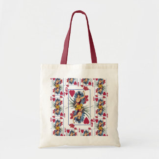 Queen of Hearts and Flowers Tote Bag