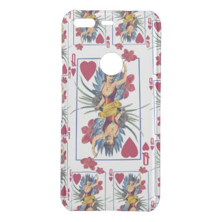 Queen of Hearts and Flowers Uncommon Google Pixel Case