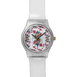 Queen of Hearts and Flowers Watch