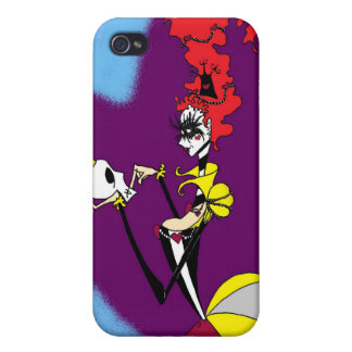 Queen of Hearts and her King phone case iPhone 4 Cases