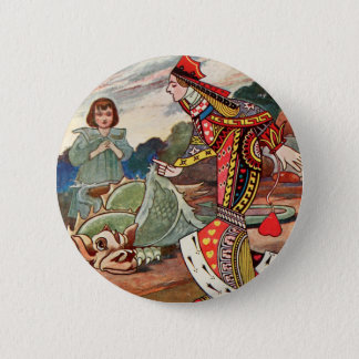 Queen of Hearts and the Gryphon 2 Inch Round Button
