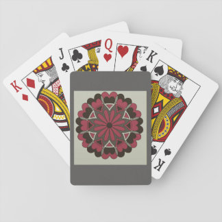 Queen of Hearts Black Red Grey Deck Of Cards