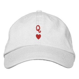Queen of Hearts cap/hat Embroidered Hats