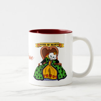 Queen of hearts cat Two-Tone coffee mug