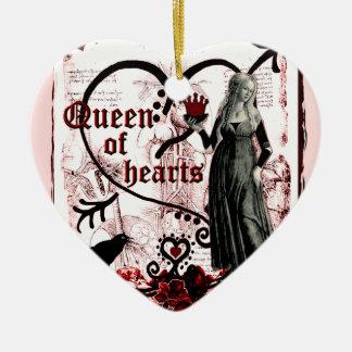 Queen of Hearts Ceramic Heart Ornament