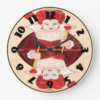Queen Of Hearts Clock