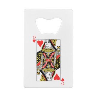 Queen of Hearts Credit Card Bottle Opener