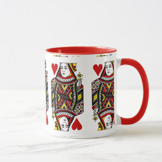 Queen of Hearts Design Coffee Mug