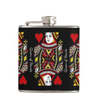 Queen of Hearts Design Flask