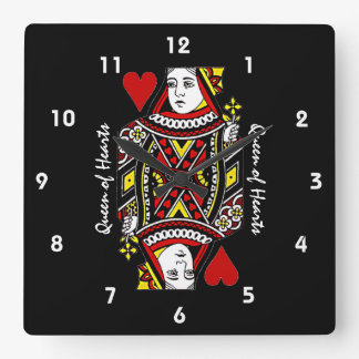 Queen of Hearts Design Wall Clock