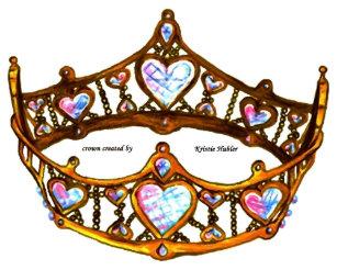 3b621e0f6d Queen of Hearts Gold Crown Tiara white Bib