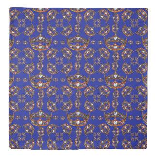 Queen of Hearts Gold Crowns Tiara iris duvet cover