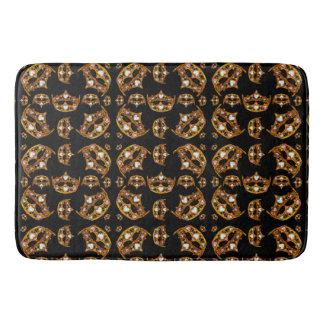 Queen of Hearts Gold Crowns Tiaras black bath mat